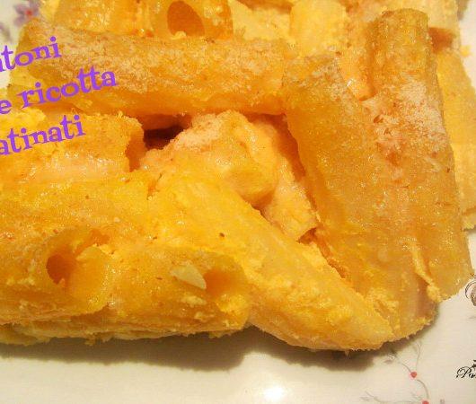 rigatoni zucca e ricotta gratinati al forno