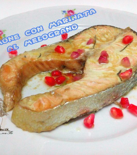 salmone con marinata al melograno