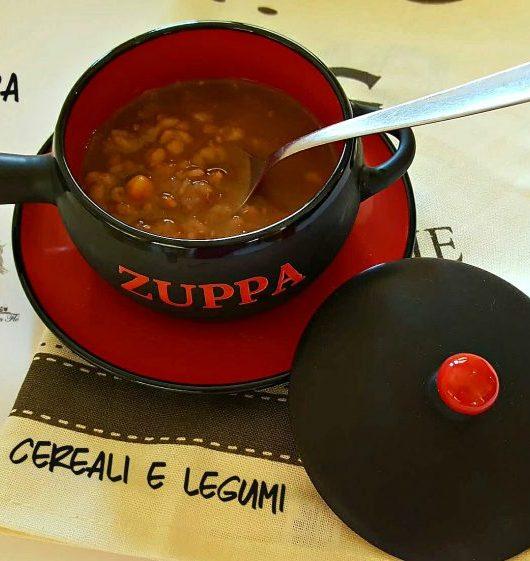 zuppa cereali e legumi misti